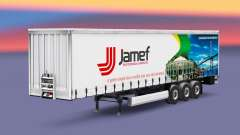 Pele Jamef Logística trailer em uma cortina de para Euro Truck Simulator 2