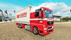 H. Essers de pele para HOMEM TGX caminhão trator Tandem para Euro Truck Simulator 2
