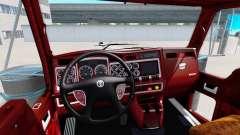 O interior da v1.1 para Kenworth W900 para American Truck Simulator