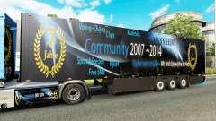 Semi-reboque frigorífico Schmitz DJ Charty para Euro Truck Simulator 2