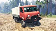 UAZ-33036 6x6 para Spin Tires
