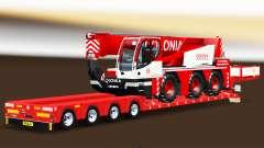 Baixa varrer com uma carga de caminhão guindaste Liebherr para Euro Truck Simulator 2