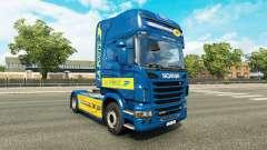Pele de La Poste para trator Scania para Euro Truck Simulator 2