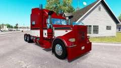 Barão vermelho com a pele para o caminhão Peterbilt 389 para American Truck Simulator