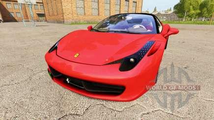 Ferrari 458 Italia v1.1 para Farming Simulator 2017