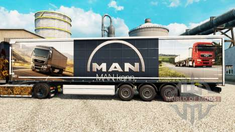 A pele do HOMEM para reboques para Euro Truck Simulator 2