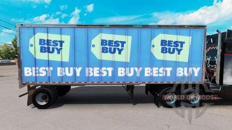 A pele Melhor Comprar no pequeno trailer para American Truck Simulator