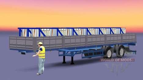 Mesa semi-reboque com uma carga de sulfato de co para Euro Truck Simulator 2