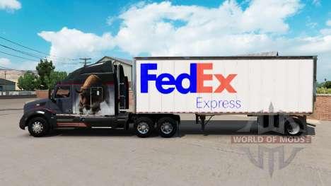 Pele FedEx pequeno trailer para American Truck Simulator