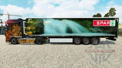 A pele Longarina Natur Pur em uma cortina semi-r para Euro Truck Simulator 2
