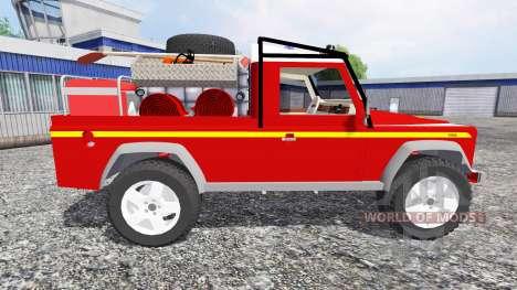 Land Rover Defender 110 [feuerwehr] para Farming Simulator 2015