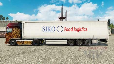 Pele Siko Logística de Alimentos para reboques para Euro Truck Simulator 2