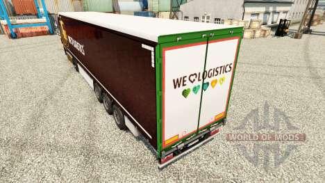 Pele UPS Inc. na semi para Euro Truck Simulator 2