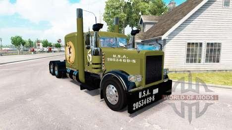 Peles WW2 Pinup no caminhão Peterbilt 389 para American Truck Simulator