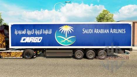 A pele Saudi Arabian Airlines para reboques para Euro Truck Simulator 2