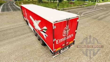 A Emirates Airlines pele para reboques para Euro Truck Simulator 2