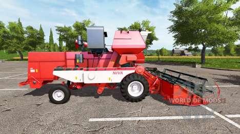 Rostselmash SK-5МЭ-1 Niva-Efeito vermelho v1.1 para Farming Simulator 2017