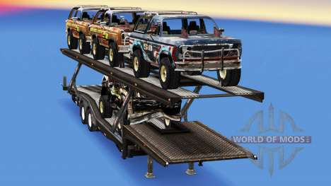 Carro Transportador, com carros de FlatOut 2 para American Truck Simulator
