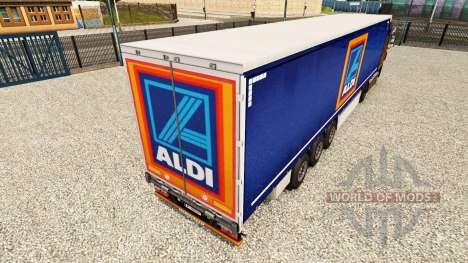 Pele Aldi em uma cortina semi-reboque para Euro Truck Simulator 2