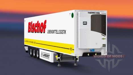 Caminhão de cargas reefer PT Bispo para Euro Truck Simulator 2