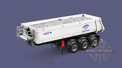 Semi-reboque basculante Schmitz Cargobull Buhler para Euro Truck Simulator 2