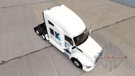 Pele KoolTrans no trator Kenworth T680 para American Truck Simulator