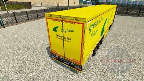A pele da Cidade de Link em uma cortina semi-reb para Euro Truck Simulator 2