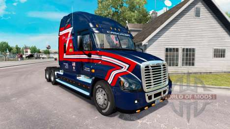 Скин Transportadores de Cargas на Freightliner C para American Truck Simulator