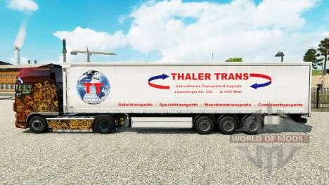 Pele Thaler Trans em uma cortina semi-reboque para Euro Truck Simulator 2