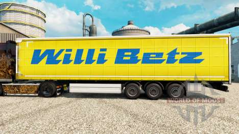 Willi Betz pele para reboques para Euro Truck Simulator 2