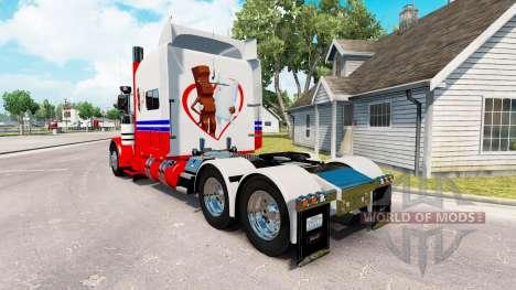 Ferrero Kinderriegel pele para o caminhão Peterb para American Truck Simulator