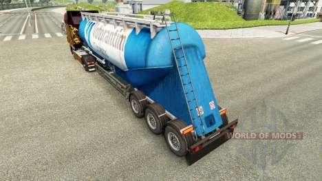 A pele da Votorantim cimentos semi-reboque para Euro Truck Simulator 2
