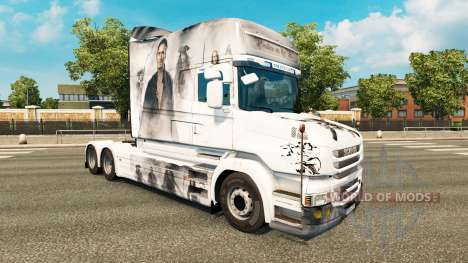 Piratas pele para caminhão Scania T para Euro Truck Simulator 2