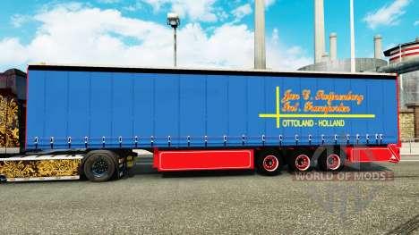 Laterais de cortina semi-reboque de janeiro de S para Euro Truck Simulator 2
