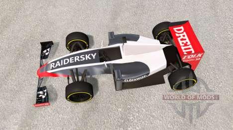 Um carro de fórmula 1 para BeamNG Drive