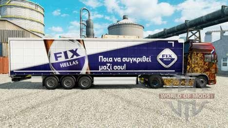 Pele Correcção Hellas no semi para Euro Truck Simulator 2