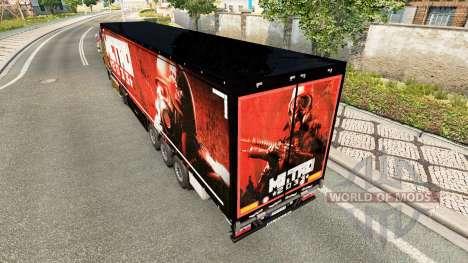 Pele Metro 2033 no semi para Euro Truck Simulator 2