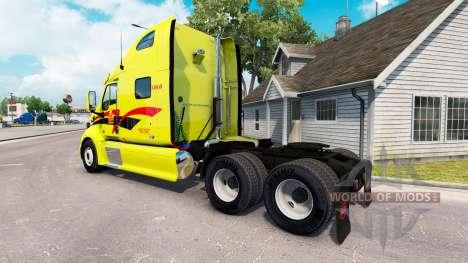 Pele Decker no trator Peterbilt 387 para American Truck Simulator