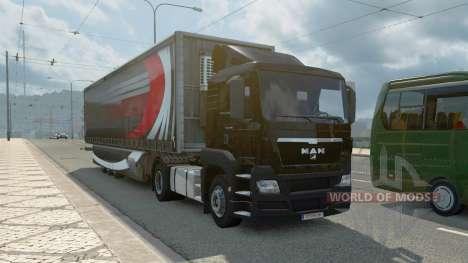 Uma coleção de caminhão de transporte de e para  para Euro Truck Simulator 2