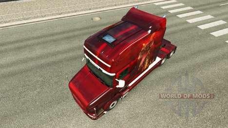 Pele de Dragão para o caminhão Scania T para Euro Truck Simulator 2