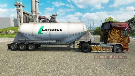 Pele Lafarge cimento semi-reboque para Euro Truck Simulator 2