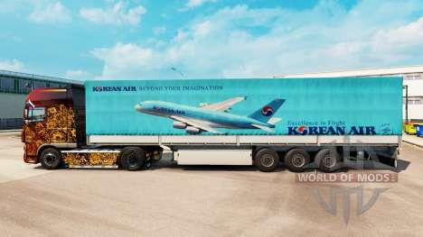 Pele Korean Air para reboques para Euro Truck Simulator 2