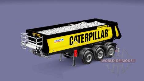 Semi-reboque basculante Schmitz Caterpillar para Euro Truck Simulator 2