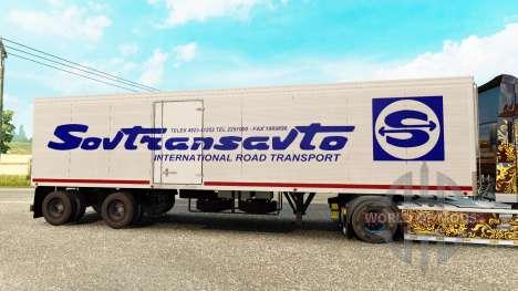 Semi-reboque-o frigorífico de Odaz 9786 Sovtrans para Euro Truck Simulator 2