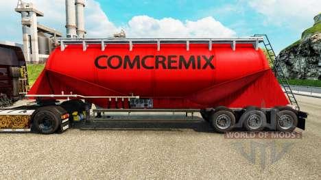Pele Comcremix cimento semi-reboque para Euro Truck Simulator 2