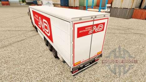 Norbert Dentressangle pele para reboques para Euro Truck Simulator 2