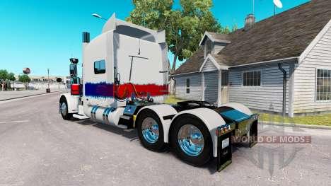Pele Pérola no caminhão Peterbilt 389 para American Truck Simulator