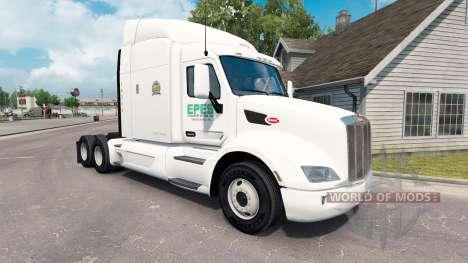Epes Transporte de pele para o caminhão Peterbil para American Truck Simulator