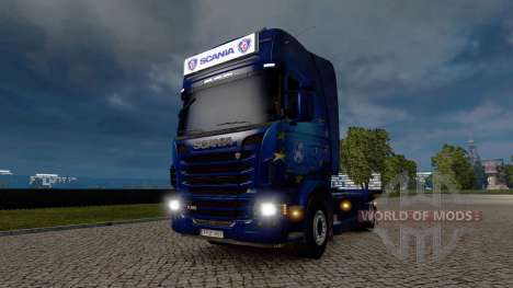 Publicidade caixa de luz para a Scania para Euro Truck Simulator 2