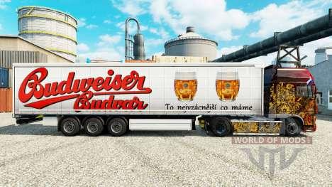 Budweiser skins para reboques para Euro Truck Simulator 2